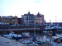 Abend in Pozzuoli-Hafen Stockfotografie