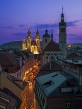 Abend Prag Stockbild