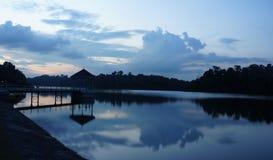 Abend-Reflexion - Reservoir Stockbild
