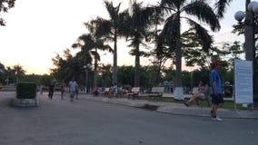 Abend Saigon stock footage