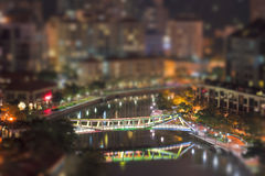 Abend Singapour Stockbild