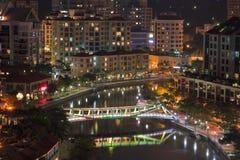 Abend in Singapour Stockbilder