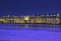 Abend-St Petersburg, Russland Stockbilder
