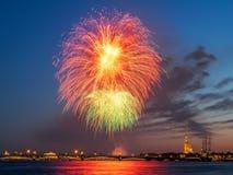 Abend St Petersburg Weiße Nächte Lizenzfreies Stockfoto