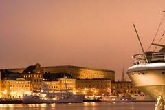 Abend in Stockholm Lizenzfreie Stockfotografie