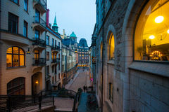 Abend in Stockholm Lizenzfreies Stockfoto