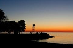 Abend am Strand lizenzfreies stockbild