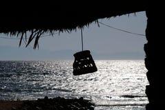 Abend am Strand Sinai-Roten Meers lizenzfreie stockfotografie