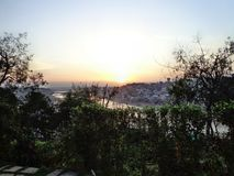 Abend Sun-Landschaft Stockbilder