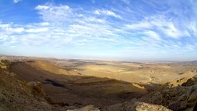 Abend timelapse Video vom Wüste Negev. stock video footage