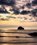 Abend an Trebarwith-Strang, Nord-Cornwall, England Stockfotografie
