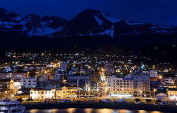 Abend in Ushuaia Lizenzfreie Stockfotografie