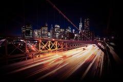 Abend-Verkehr in New York lizenzfreie stockfotos