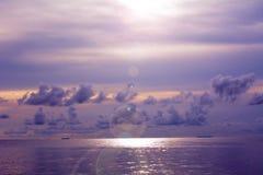 Abend vor Sonnenaufgang zum Sonnenuntergang Stockfotografie