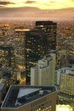 Abend-Zeitpanoramablick des Panoramablicks vom dreieckigen stockbild