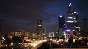 Abendansicht über Paris-Skyline stock footage