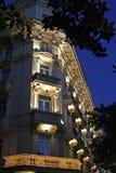 Abendansicht der italienischen Architektur Stockfotografie