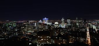 Abendansicht von Montreal lizenzfreie stockfotografie