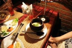 Am Abendessen Lizenzfreie Stockfotos