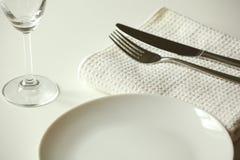 Abendessen betriebsbereit Stockfotos