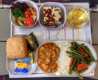 Abendessen in der Fläche Stockfoto