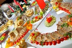 Abendessen an der Gaststätte Stockfoto