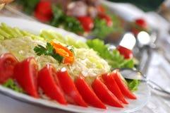 Abendessen an der Gaststätte Stockbilder