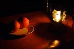 Abendessen in der Sahara-Wüste Stockfotos