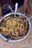 Abendessen in der Wüste Lizenzfreies Stockfoto