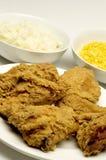 Abendessen des gebratenen Huhns Stockfotografie