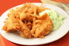 Abendessen des gebratenen Huhns lizenzfreies stockfoto
