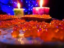 Abendessen des neuen Jahres Stockbilder