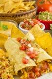 Abendessen des weichen Tacos Stockfotos