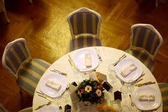Abendessen in einem Restaurant Stockfotos