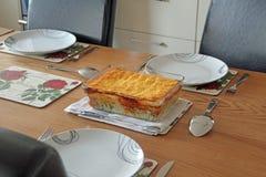 Abendessen für drei Stockbild
