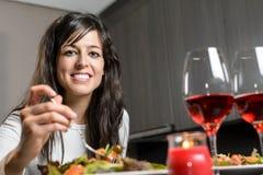 Abendessen für Paare Lizenzfreies Stockfoto
