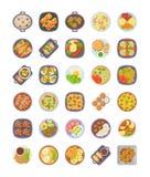 Abendessen-Ideen-Ikonen-Satz stock abbildung