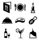Abendessen-Ikonen Lizenzfreies Stockfoto