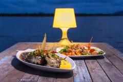 Abendessen mit Meeresfrüchten Lizenzfreie Stockfotografie