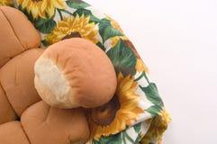 Abendessen Rolls in einem Korb Lizenzfreies Stockfoto