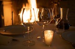 Abendessen romantisch Lizenzfreie Stockbilder