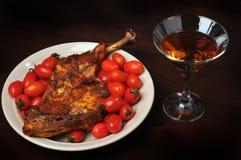 Abendessen- und Weineinstellung Lizenzfreie Stockfotografie