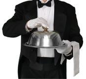 Abendessen wird gedient stockbilder