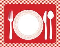 Abendesseneinladungsmenü Stockfoto