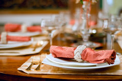 Abendesseneinstellung Lizenzfreies Stockfoto