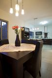 Abendessenraum-Luxuxauslegung Stockfoto