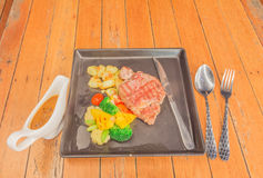 Abendessensatz Steak Lizenzfreie Stockbilder