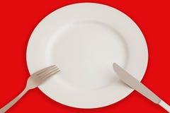 Abendessenset Stockfoto