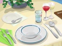 Abendessenszene Lizenzfreies Stockbild