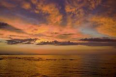 Abendfarben des Meeres Lizenzfreies Stockfoto